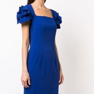Badgley Mischka Women's Rose Shoulder Dress